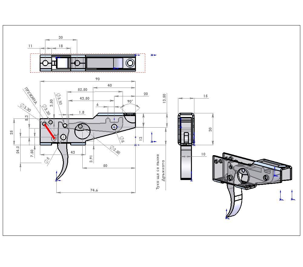Арбалет для подводной охоты своими руками спусковой механизм